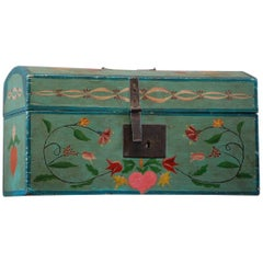 Painted 19th Century French Marriage Chest