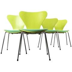Arne Jacobsen Green Chairs