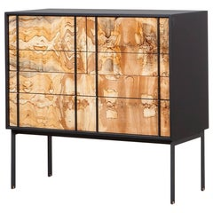 Contemporary Beech and Bronze Sideboard by Johannes Hock 'l'