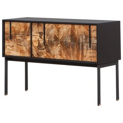 Contemporary Beech and Bronze Sideboard by Johannes Hock 'k'