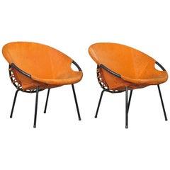 Orange Balloon Chairs Hans Olsen