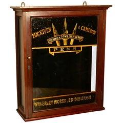 Victorian Stationers Cupboard, Macniven & Cameron Pens Display Cabinet