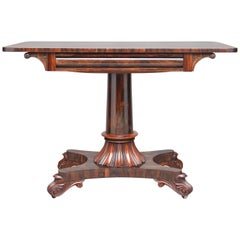 19th Century Rosewood Library/Sofa Table