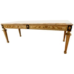 19th Century Table with Marble of Carrara on the Top