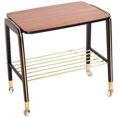 20th Century French Mahogany Art Deco Trolley, Completely Restored