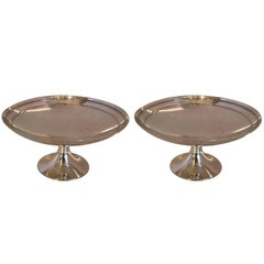 Wonderful Pair Mid-Century Modern Tiffany & Co. Sterling Silver Compotes / Bowls