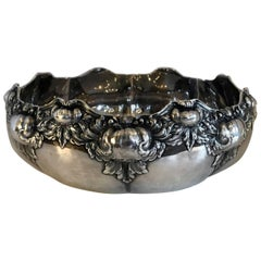 Wonderful Intricate Tiffany Sterling Silver Ornate Centrepiece Scalloped Bowl