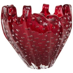 Venini Vase with Controlled Bubbles