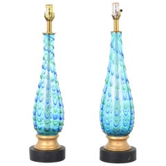 Gorgeous Pair of Marbro Lamp Company Murano Lamps, 1955, Italy