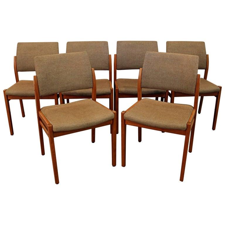 Set of Six Midcentury Swedish Modern Svegards Markaryd Teak Dining Chairs