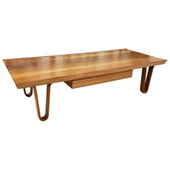 Mid-Century Modern Edward Wormley for Dunbar Walnut Long John Bench/Coffee Table