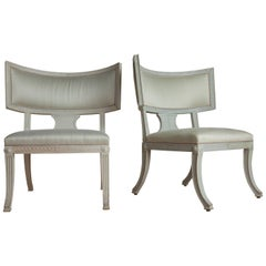 Swedish Gustavian Sulla Style Chairs, a Pair, circa 1870