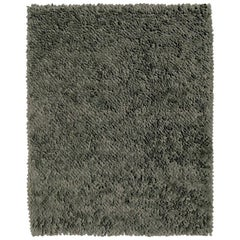 Roses Grey Hand-Loomed Wool Dyed Felt Rug by Nani Marquina in Stock, Small