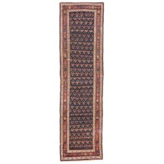 Antique Caucasian Shirvan Boteh Tribal Runner, Hallway Runner