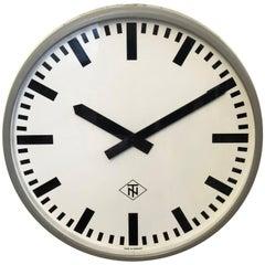 Huge Industrial Factory or Stration Clock by Telefonbau Und Normalzeit