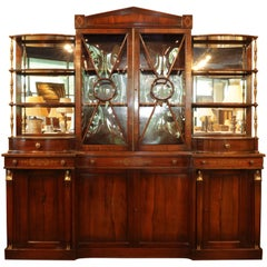 Directoire Style Rosewood Display Cabinet