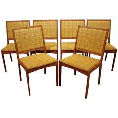 Set of Six Mid-century Swedish Modern Teak Dining Chairs