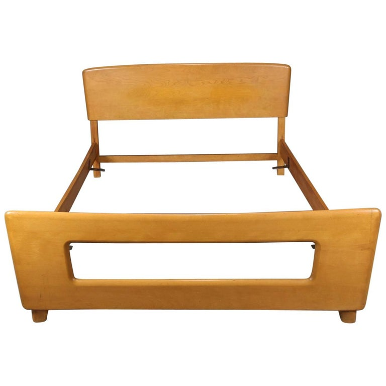 Mid-Century Modern Heywood Wakefield Dogbone Double/Full Bed Frame