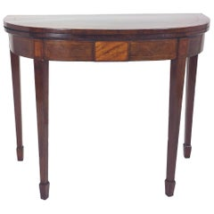 George III Sheraton Mahogany Fold over Card Table