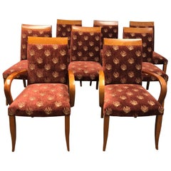 Set of Eight Dakota Jackson PFM Royal Seating Chairs