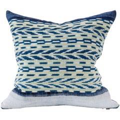 Indigo Guatemalan Textile Panel Pillow