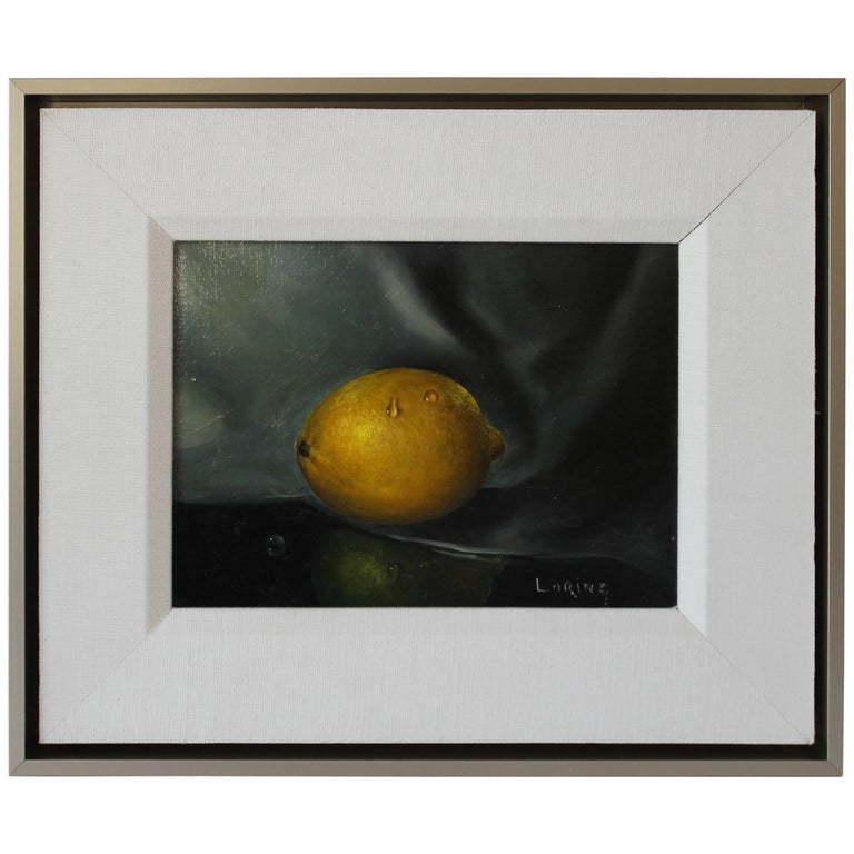 Oil Painting of Lemon Signed Loring