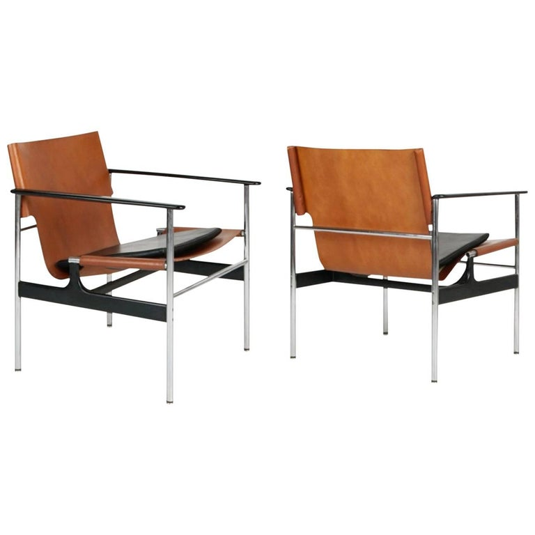 Early Production Model 657 Armchairs by Charles Pollock for Knoll Associates