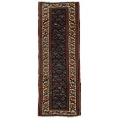 Antique Caucasian Kazak Tribal Runner, Hallway Runner