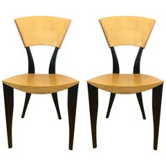 Pair of Sawaya & Moroni Made in Italy Karina TV Chairs J. Mancini & G. Dorell