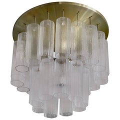 Rare Hans-Agne Jakobsson Glass Flush Mount/Chandelier, 1970s