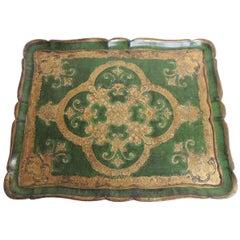 Large Vintage Florentine Wood Painted Tray