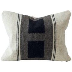 Double Block Flat-Weave Textile Cushion