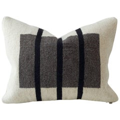 Vertical Stripe Flat-Weave Textile Cushion