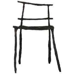 Stick Sculpted Chair, Signed by Michael Gittings