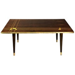 Inlaid Macassar Ebony Coffee Table, H. Sundling, Denmark, 1955