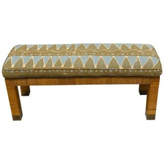 Midcentury Rattan and Reed Long Bench