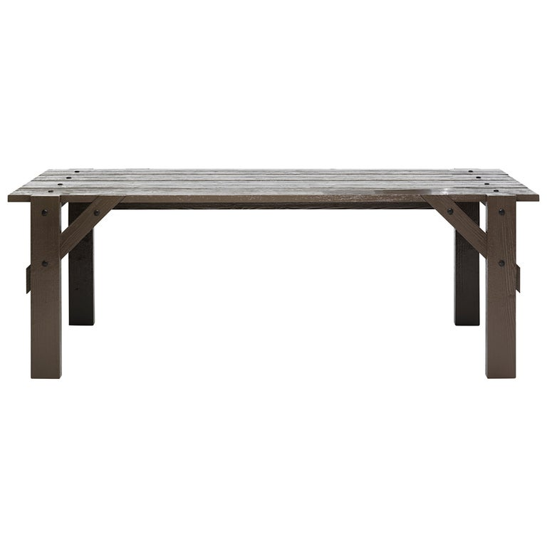 Large Officina Dining Table in Gloss Finish by Mogg