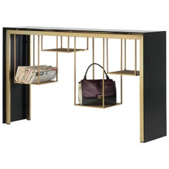Tokyo Console Table by Mogg in Black with Gold Finish