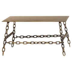 Large Sing Sing Rectangular Table in Bronze Finish by Fabio Bortolani & Mogg