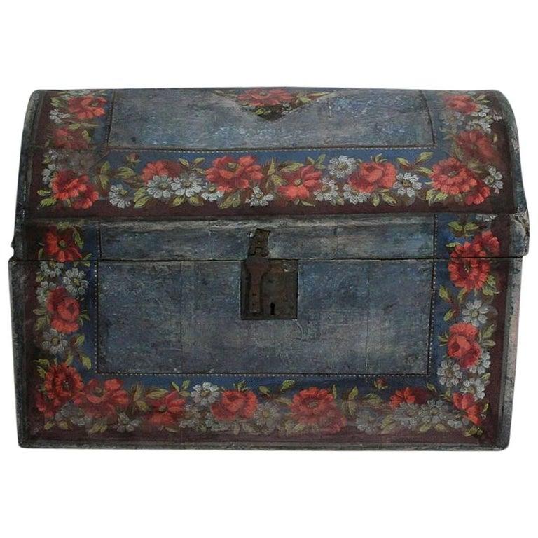 18th Century French Folk Art Wedding Box