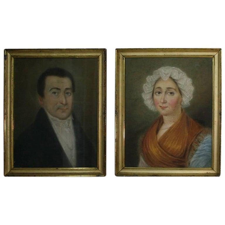Pair of Early 19th Century Pastel Portraits