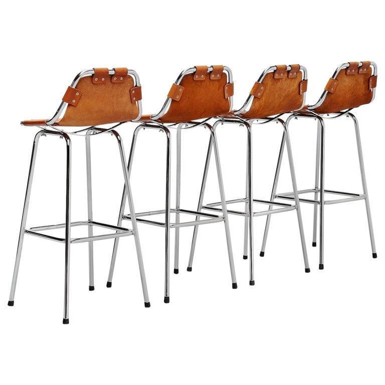 Les Arcs Bar Stools Used by Charlotte Perriand, 1960 For Sale
