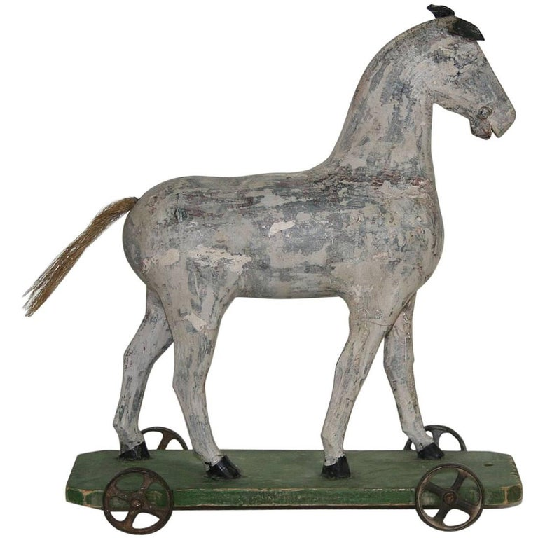 Small 19th Century French Wooden Horse