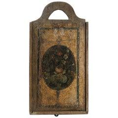 18th Century Dutch Folk Art Wooden School Bag/Box
