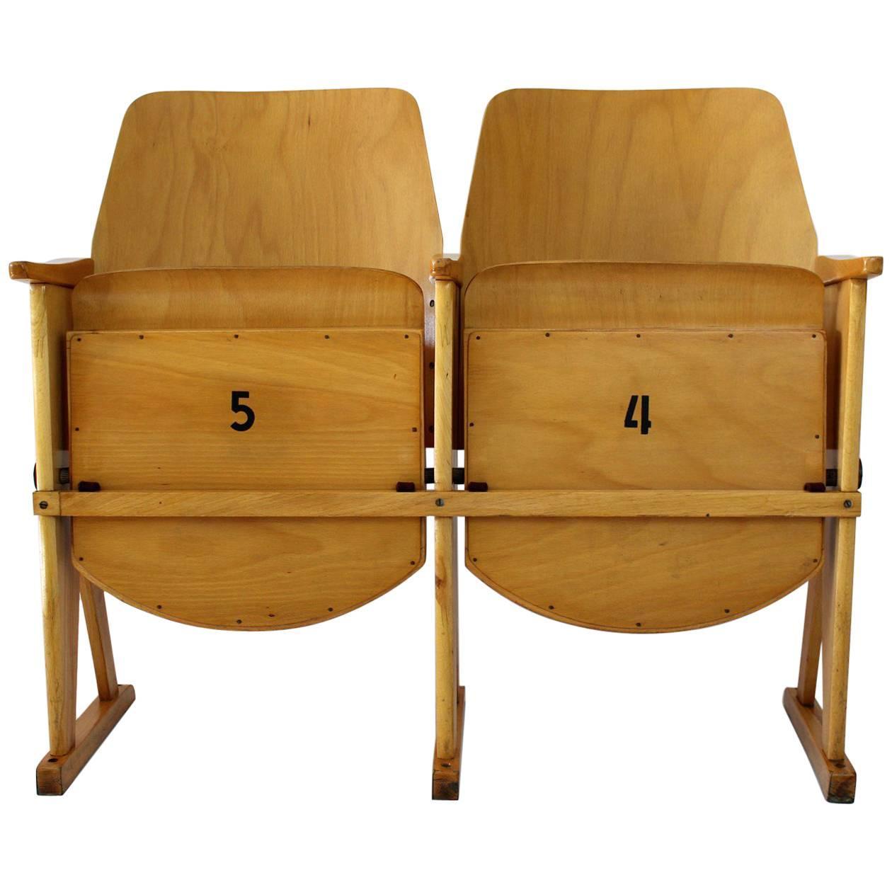 Perfect Vintage Cinema Chairs From TON U0027Thonetu0027, ...
