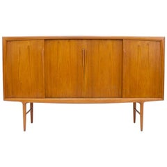 Gunni Oman Teak Highboard Sideboard for Axel Christensen Denmark 1960s