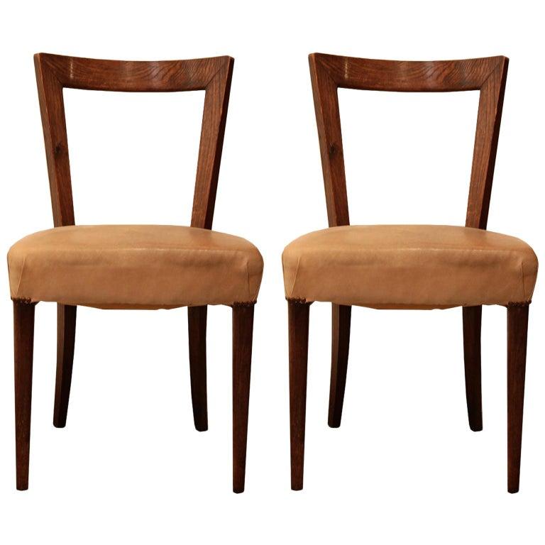 Pair of modernist oak chairs, originally designed in 1949