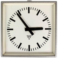 Industrial Railway or Factory Wall Clock from Pragotron, 1980s