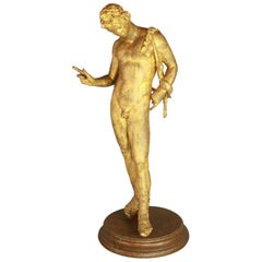 19th Century Gilt-Bronze Sculpture of Dionysus
