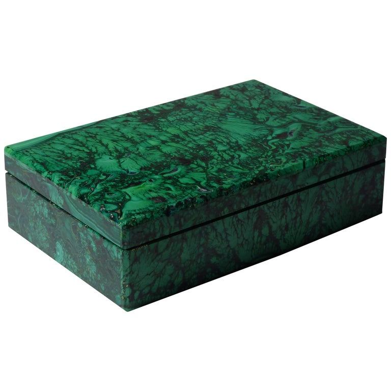 Beautiful Malachite Box by Studio Superego, Unique Piece, Italy